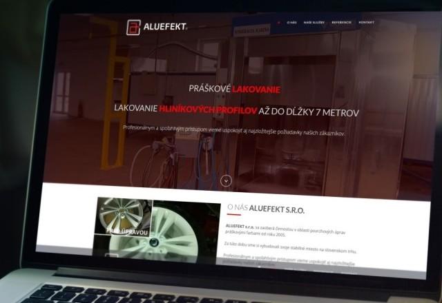 Aluefekt, s.r.o - webstránka pre spoločnosť