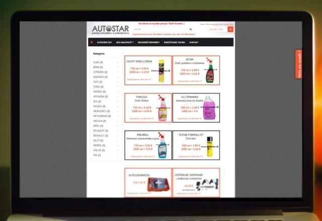 AUTOSTAR Smižany - webstránka pre spoločnosť