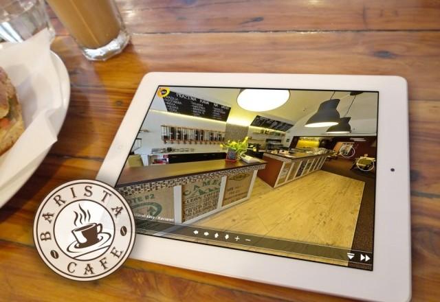 Barista café - pražiareň kávy - virtuálna prehliadka kaviarne