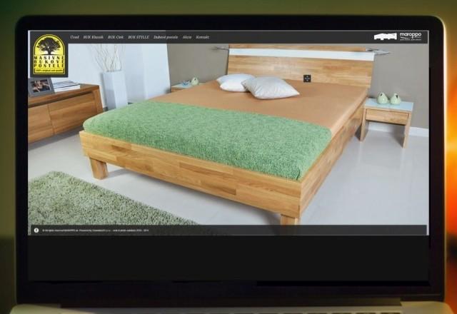 Bukové postele - webstránka pre spoločnosť