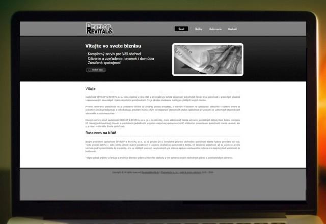 Develop&Revital s.r.o. - webstránka pre spoločnosť