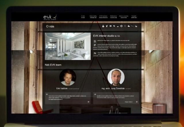 EVK interier studio s.r.o. - webstránka pre spoločnosť