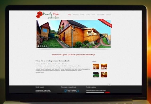 Family HYBE - webstránka pre ubytovacie zariadenie