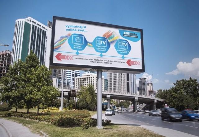 HG Data, s.r.o. - reklamný návrh billboardu