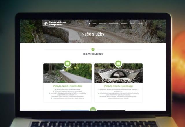 Lesostav Poprad, s.r.o. - webstránka spoločnosti