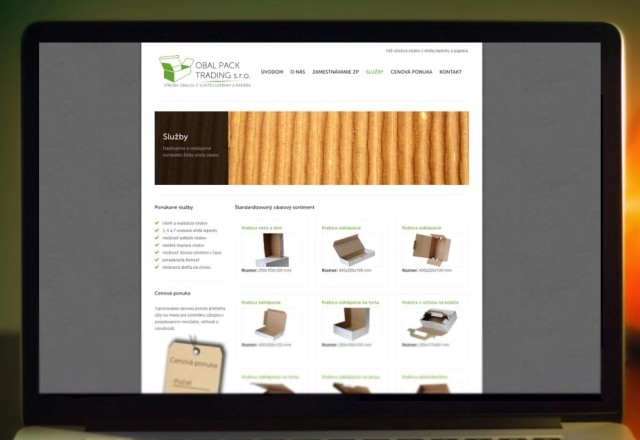 OBAL PACK TRADING s.r.o. - webstránka pre spoločnosť