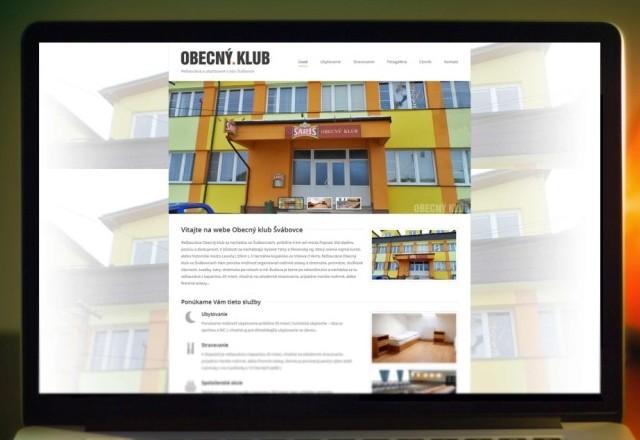 Obecný KLUB Švábovce - webstránka pre reštauračné zariadenie