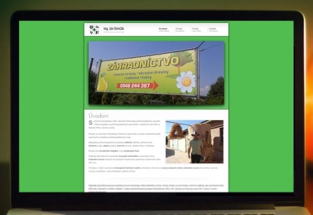 Orinčák SHR - webstránka pre spoločnosť