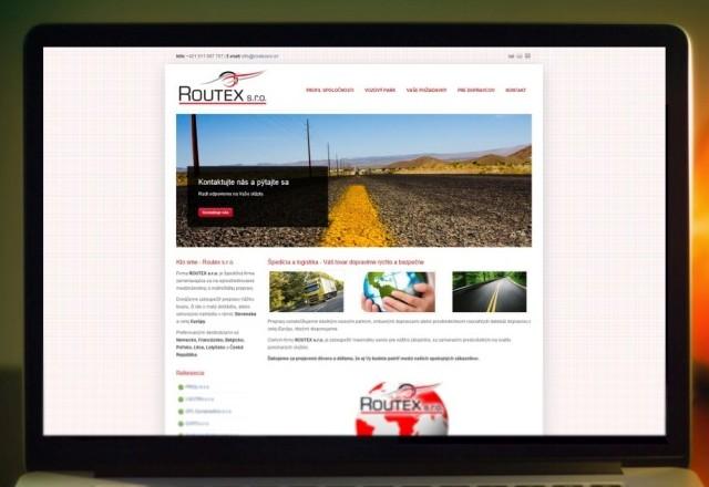 Routex s.r.o. - webstránka pre spoločnosť