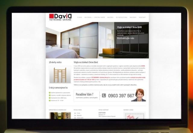 Skrine DAVID - webstránka pre spoločnosť