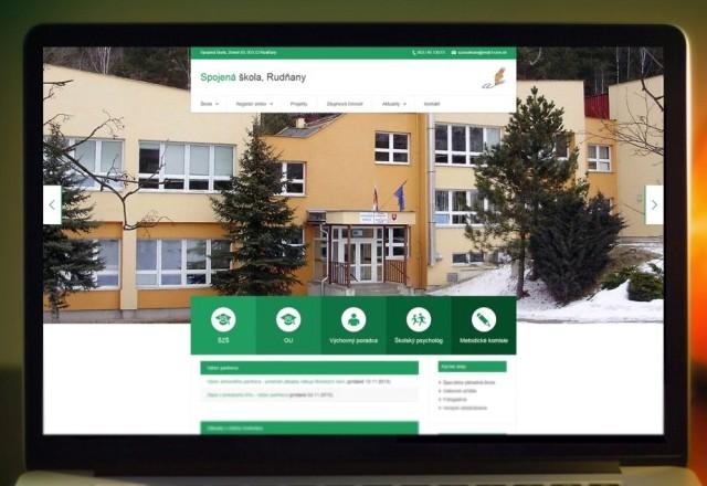 Spojená škola Rudňany - webstránka pre spjenú školu
