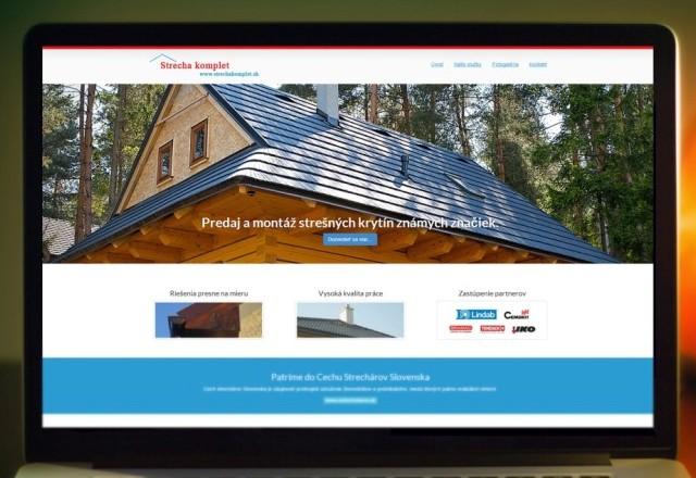 Strechakomplet - ROVA - webstránka pre spoločnosť